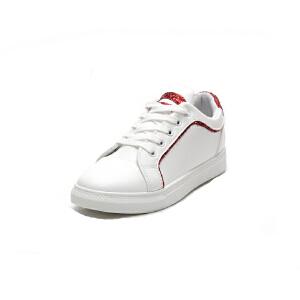 O'SHELL欧希尔新品115-8127休闲平底女士小白鞋