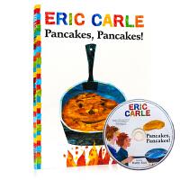 煎饼 煎饼 Pancakes, Pancakes! 含CD 英文原版绘本 卡尔爷爷经典作品Eric Carle 低幼儿童