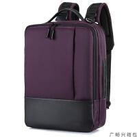 商务休闲双肩包电脑包男女学生背包时尚联华戴小米15寸15.6英寸14寸17寸17.3笔记本单L