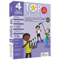 【首页抢券300-100】Evan-Moor Top Student Grade 4 美国加州教辅优等生系列英文原版练习