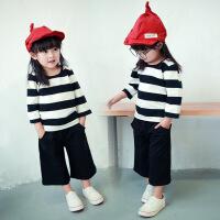1女宝女童秋装套装新款韩版潮衣4一6岁女宝宝阔腿裤公主3秋季