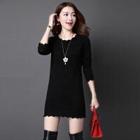 秋冬新款毛衣女套头针织打底衫上衣韩版女装羊毛衫中长款裙子