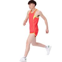 2018034022452男女款田径服训练套装背心短裤比赛服跑步服透气可印号
