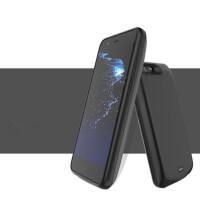 苹果se背夹电池5s背夹充电宝手机壳iphone5se/6sp/7p夹背充式 磨砂黑 苹果5/5S/SE 新款2019