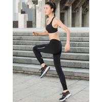 户外紧身裤女跑步瑜伽健身速干薄款九分裤运动裤显瘦弹力裤