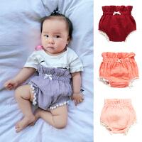 婴儿女童可爱潮款春夏款裤子宝宝0-6月1岁新生儿外出服夏季短裤