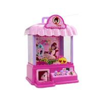 抓娃娃机玩具儿童早教迷你电动游戏机投币机家用小型欢乐夹娃娃机过家家男孩女孩亲子互动