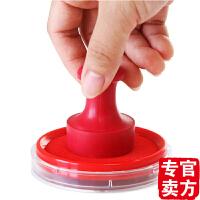 得力办公9863圆形快干印台 印泥 会计财务用橡皮章印泥 红色