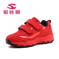 哈比熊童鞋男童休闲鞋2016春秋新款女童运动鞋子中大童韩版跑步鞋AS323H3
