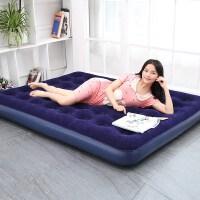 充气床垫家用双人 气垫床单人户外加厚便携自动折叠床冲气床SN5864 蓝色 (家用电泵)送双枕+修补包