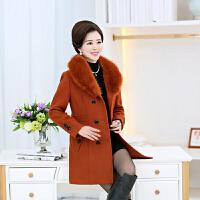 中老年女装毛呢外套妈妈装冬装羊毛呢子大衣40-50岁奶奶老人60-70