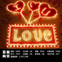 表白求婚道具蜡烛浪漫生日玫瑰套餐求爱心形爱心小蜡烛创意酥油灯