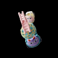 儿童早教洞洞球摇铃小汽车软胶工程车玩具婴幼儿0-3岁锻炼手眼手摇铃玩具