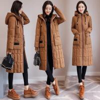 年冬季韩版连帽中长款冬外装套棉衣女士百搭棉袄新款时尚