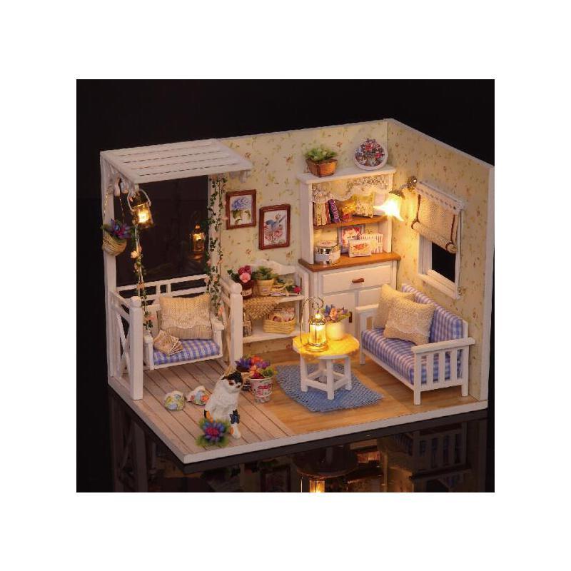 智趣屋diy小屋房子手工制作拼装模型玩具公主房别墅小猫日记创意