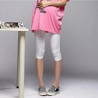 慈颜  托腹孕妇打底裤夏 莫代尔七分孕妇裤孕妇装CIYAN01a01