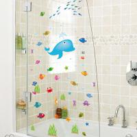 卫生间淋浴室装饰墙壁瓷砖玻璃贴纸防水贴画儿童房卡通可移除墙贴