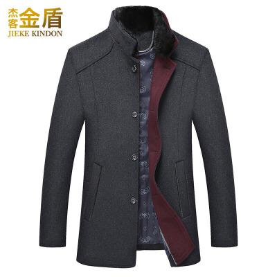 羊毛大衣男韩版修身中长款尼子反季冬季中年毛领加厚男士呢子外套 灰色 0/M 一般在付款后3-90天左右发货,具体发货时间请以与客服协商的时间为准