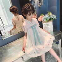 汉服女童夏装儿童唐装裙女孩中国风连衣裙