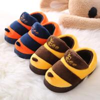 儿童棉拖鞋冬季包跟防滑男女童可爱宝宝小孩室内保暖居家居毛毛拖