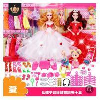 维莱 芭芘比洋娃娃公主女孩玩具儿童婚纱衣服套装大礼盒巴比 A13 款 3D美瞳12关节