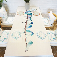 桌布餐桌布艺茶几桌布盖布厚实白长方形定制做 归鸟纯白色桌布1块