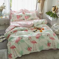 床上四件套棉棉床单被套1.8m床双人床笠4件套ins卡通公主风 被套220x240适合2.0m床 床单款