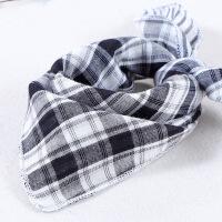 南极人(Nanjiren) 宝宝三角巾纯棉纱婴儿口水巾围嘴围巾双面格子男女儿童方巾头巾