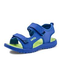 安踏(ANTA)童鞋男童沙滩凉鞋儿童夏季凉鞋31726993蓝绸色/酸橙绿38