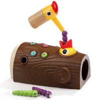 宝宝益智1-2岁3女孩男孩婴儿童啄木鸟吃抓捉虫子钓鱼玩具智力动脑