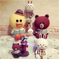 动物小熊小白兔风铃小夜灯储蓄罐树脂摆件