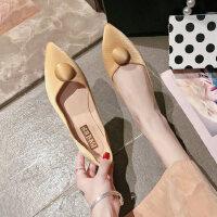 韩版女士单鞋浅口单鞋时尚百搭平底鞋软底舒适女鞋潮