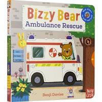 Bizzy Bear 小熊很忙好忙 Ambulance Rescue 救护车 儿童英语纸板机关操作书 英文原版绘本进口图