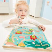 特宝儿 鳄鱼迷宫滑珠益智迷宫玩具走珠球磁性运笔儿童男孩2-3岁4-6岁智力开发120330