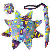 【支持礼品卡】儿童布艺安全软飞盘 幼儿园亲子户外手工飞碟沙包尾巴三件套玩具k3c