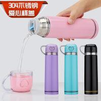 保温杯不锈钢男女水杯子学生便携创意简约可爱儿童大容量水壶定制