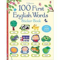 现货 100 First English Words Sticker Book 英文原版 100个英语单词学习贴纸书 进