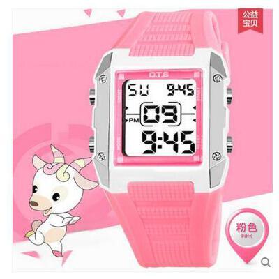 女生手表韩版学生潮儿童手表女孩电子表时尚学生儿童手表中小学生手表防水夜光支持礼品卡支付 品质保证 售后无忧 支持货到付款