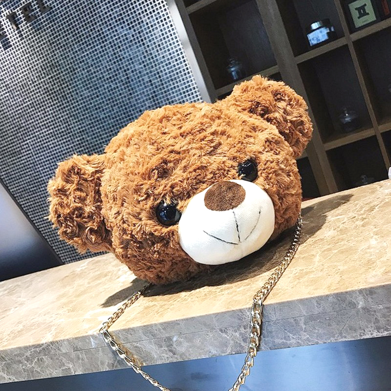 小熊毛绒玩具女生单肩包斜挎包包泰迪熊抱抱熊玩偶公仔包儿童