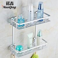 免打孔太空铝浴室置物架2层卫生间置物架洗手间壁挂卫浴架厕所