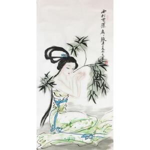 王文华《雨打芭蕉》著名画家