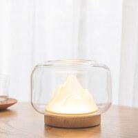 创意暖山灯小夜灯卧室床头充电氛围助眠灯鱼缸多功能网红台灯礼物 暖山灯