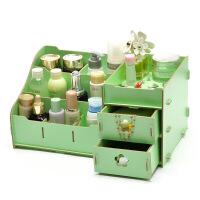 新款桌面大号木制化妆品收纳盒学生宿舍简约化妆盒护肤品置物架抽屉式