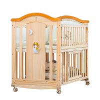 婴儿床实木拼接大床bb宝宝床新生儿多功能可折叠摇篮床儿童床