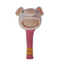 高尔夫球杆帽套 一号木杆套 发球木杆套 女士浅粉色卡通杆头套 粉红色