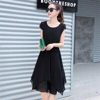 连衣裙年夏季短袖中长款修身显瘦气质唯美可爱潮流气质优雅