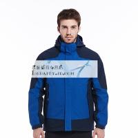 20180411041602054户外年新款秋冬冲锋衣防风防雨保暖男士三合一两件套