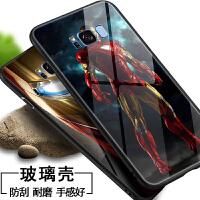 三星s8手机壳漫威s8+玻璃套s8plus钢铁侠男女款Galaxy欧美镜面潮牌