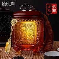 商务礼品定制logo中国特色礼品送外国人礼品实用琉璃茶叶罐工艺礼品 可定制任意logo 文字 图案