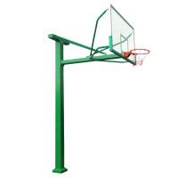 篮球架室外 户外标准移动地埋式篮球架学校比赛 单只:立柱180*180配12MM钢化篮板送臂力棒